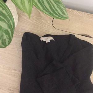 Loft v-neck black sweater
